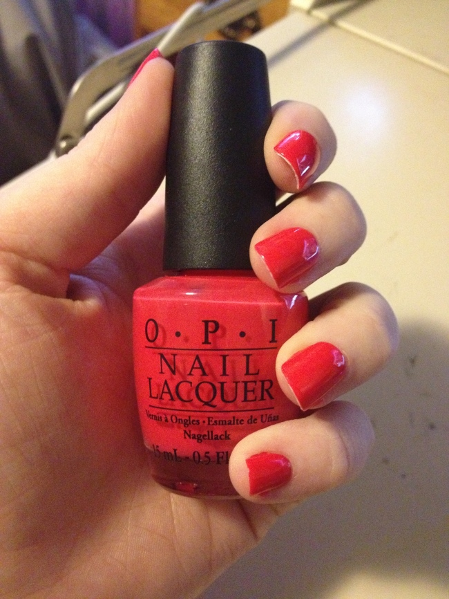Personally love any creme red nail polish from deep red to orange y